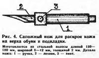 Рис. 4. Сапожный нож для раскроя кожи на верха обуви и подкладки