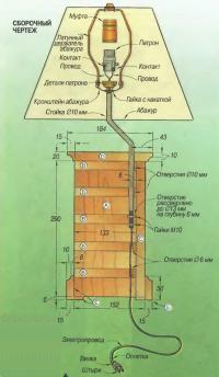 Рис. 4. Сборочный чертеж светильника