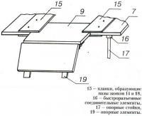 Рис. 4. Вариант узла стыковки модулей дополнительного днища