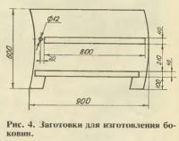 Рис. 4. Заготовки для изготовления боковин