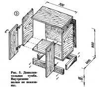 Рис. 5. Дополнительная тумба. Внутренние полки не показаны