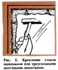Рис. 5. Крепление стекла шпильками