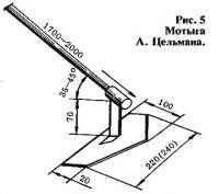 Рис. 5. Мотыга А. Цельмана