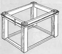 Рис. 5. По углам под веревку кладем подкладки