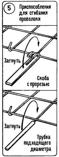 Рис. 5. Приспособления для сгибания проволоки