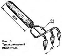 Рис. 5. Трехкрючковый рыхлитель