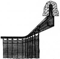 Рис. 6. Конструкцию крепят шурупами к потолку