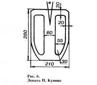 Рис. 6. Лопата П. Кунина