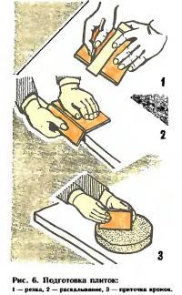 Рис. 6. Подготовка плиток