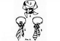Рис. 6. Способы завязывания галстуков