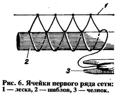 способы плетения сети из лески для рыбалки