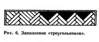 Рис. 6. Заполнение «треугольников»