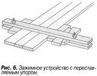 Рис. 6. Зажимное устройство с переставляемым упором