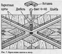 Рис. 7. Крепление щитов к полу