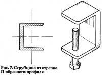 Рис. 7. Струбцина из отрезка П-образного профиля