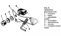 Рис. 8. Демонтаж выключателя