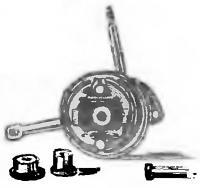 Рис. 8. Опорный диск с тормозными колодками и втулками
