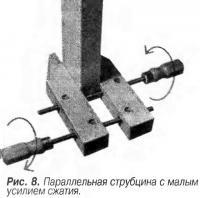 Рис. 8. Параллельная струбцина с малым усилием сжатия