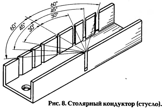 Рис. 8. Столярный кондуктор (стусло)