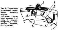 Рис. 8. Тормозное устройство механизма намотки шнура