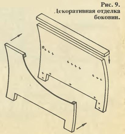 Рис. 9. Декоративная отделка боковин