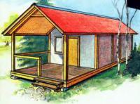Рисунок готового временного домика