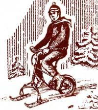 Рисунок снегохода на базе велосипеда