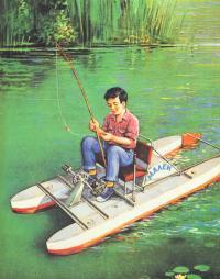 Рисунок велокатамарана на воде