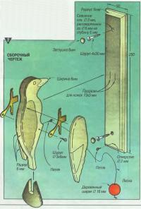 Сборочный чертеж дверного молоточка