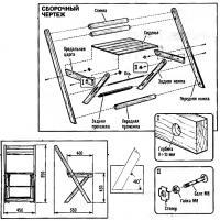 Сборочный чертеж складного стула