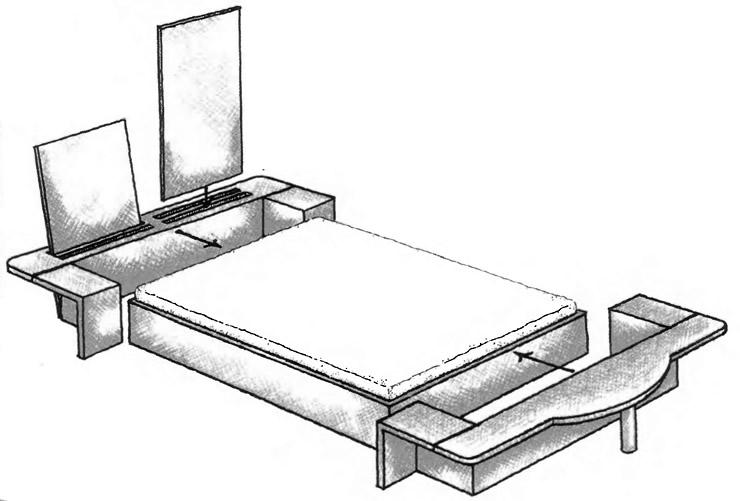 Схема переделки кушетки