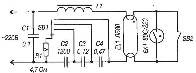 Схема регулятора яркости ЛДС