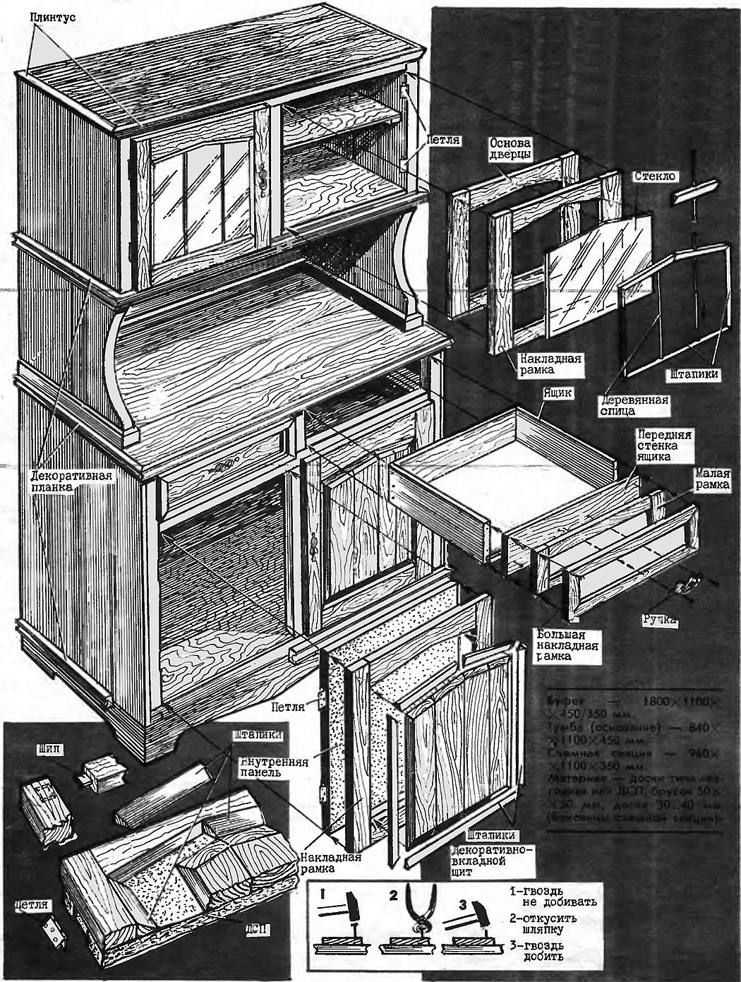 Схема сборки буфета