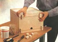 Шлифовка внутренних поверхностей ящиков