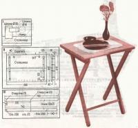 Складной стол и сборочный чертеж
