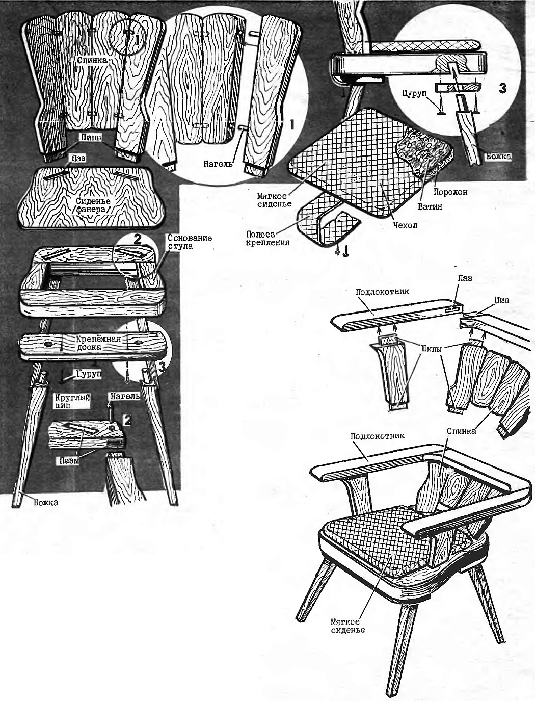Стул и кресло
