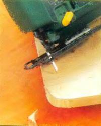Углы заготовки можно закруглить электролобзиком
