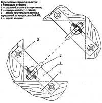 Укрепление каркаса калитки с помощью стяжки