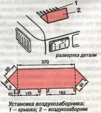 Установка воздухозаборника
