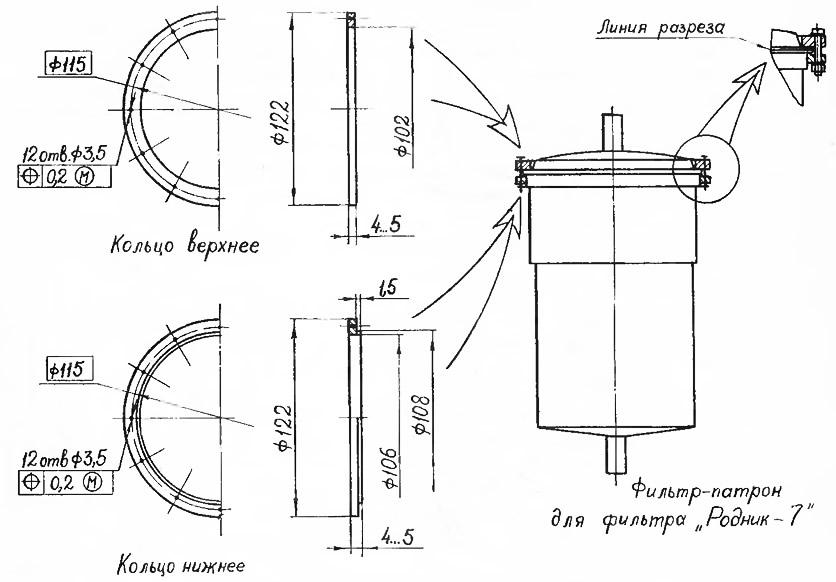 Схема устройства бытового фильтра для воды