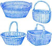 Варианты овальных корзин