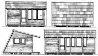 Вид на дом с четырех сторон