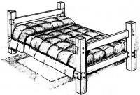 Внешний вид деревянной кровати