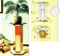 Внешний вид и чертежи подставки для цветов