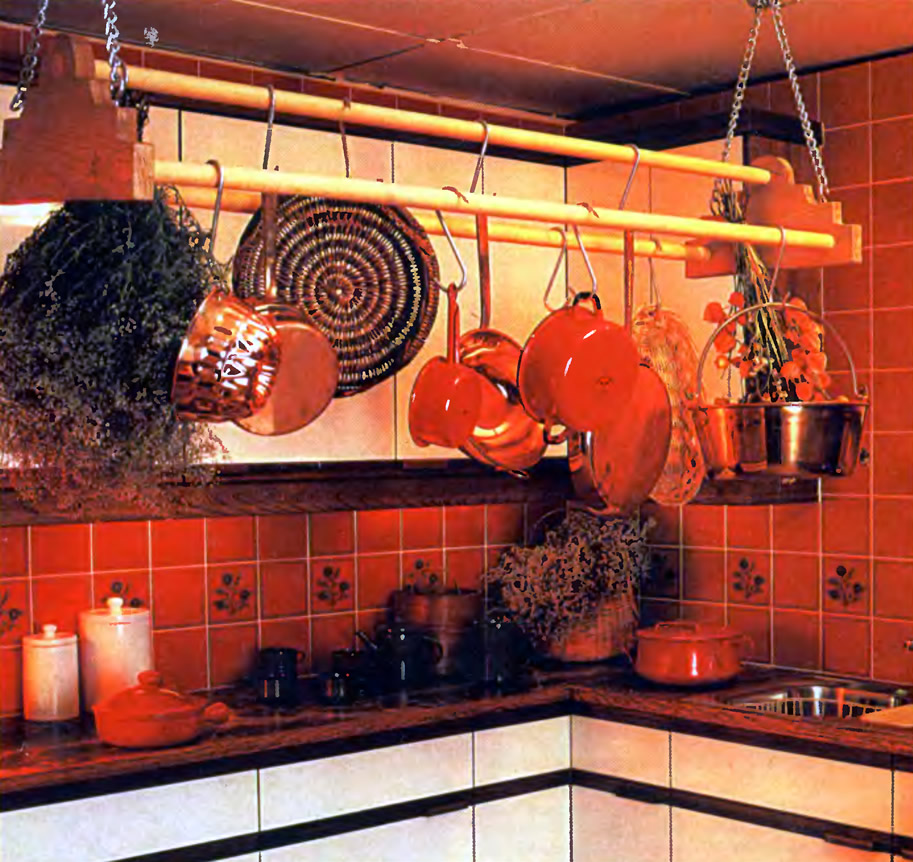 Внешний вид кухонной полки