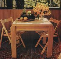Внешний вид столика для веранды