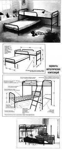 Вварианты металлических кроватей