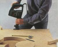 Вырезание столешницы и колес