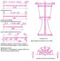 Заготовки и конструкция вазы